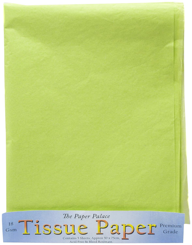 The Paper Palace Il palazzo di carta, di carta velina, colore: verde brillante, 51 x 76 cm, confezione da 5 fogli House of Handicrafts 175 11