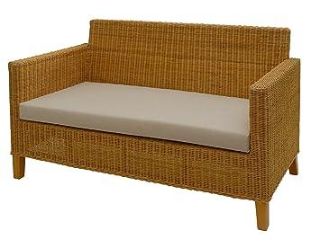 Gut gemocht korb.outlet Rattan-Sofa 2-Sitzer Lounge in der Farbe Honig inkl AH99