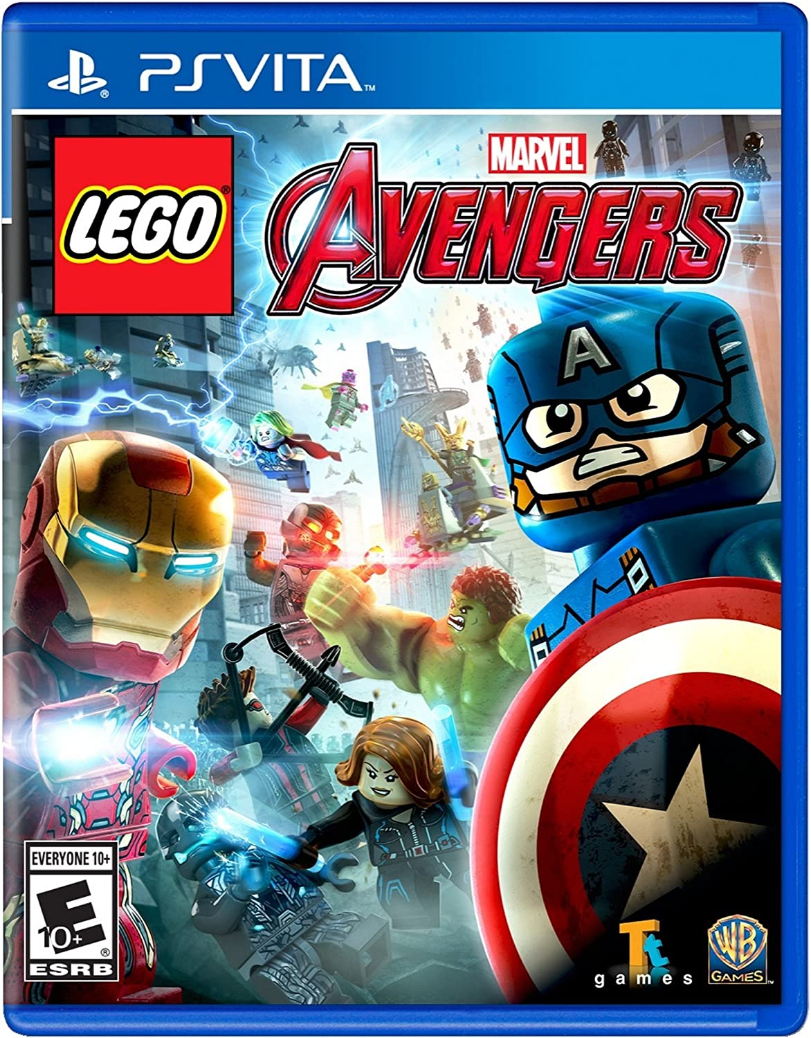 Amazon Com Lego Marvel S Avengers Playstation Vita Whv Games Video Games