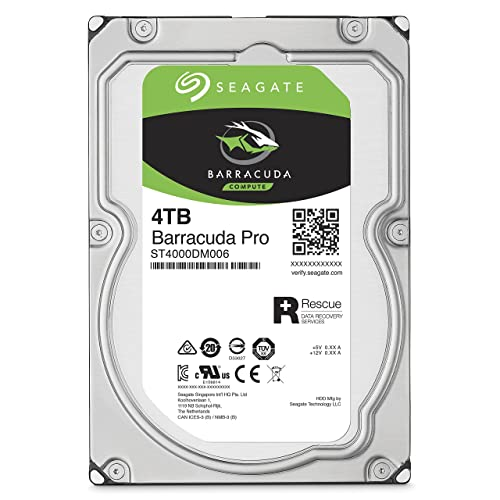 Seagate 4TB BarraCuda Pro 7200RPM SATA 6Gb/s 128MB Cache 3.5-Inch Internal Hard Drive