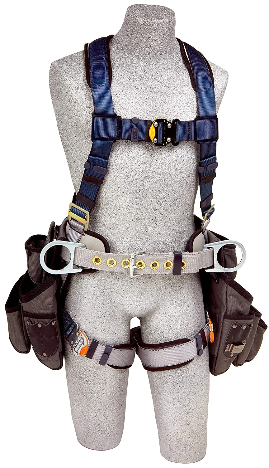 3M DBI-Sala Exofit Construction Style Harness with Tool Pouches 1108518, Large, 1 Ea