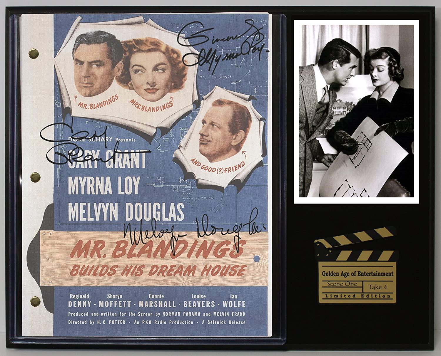 Mr Blanding Builds His Dream House Ltd Edition Reproduction Movie Script Cinema Display C3