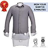 SereneLife 1400 Watt Machine-1400W Dummy/Press for Shirts/Blouses and Much More, Dries and Irons Clothes Automatically in one Step SLIRX45, Gray