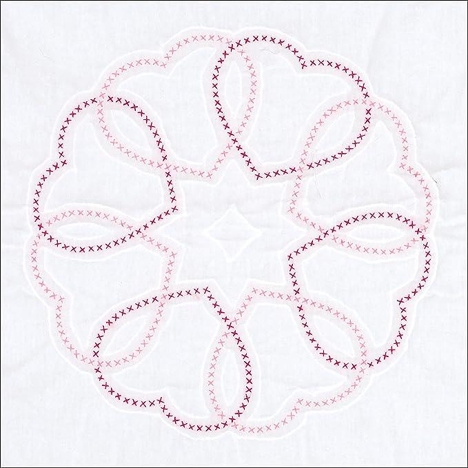 Jack Dempsey Needle Art 733887 Pony Quilt Blocks White