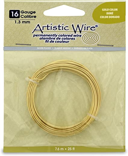 Tarnish Resistant Silver Craft Wire Gold Artistic Wire 1//4LB Spool