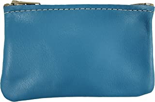 product image for North Star Men's Leather Zippered Coin Pouch Change Holder (4 X 2.5 X 0.25 Inches, Turquoise)