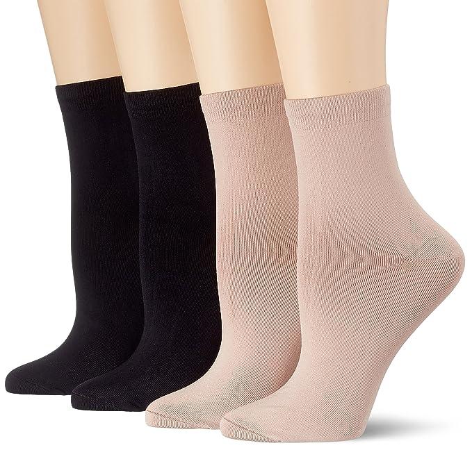 Dim Socquette Skin 3+1 Gtt, Calcetines Cortos para Mujer, Multicolor Noir/