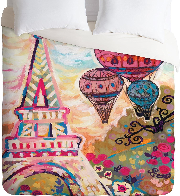 Deny Designs Natasha Wescoat Balloons Sur Paris Duvet Cover, Twin/Twin XL