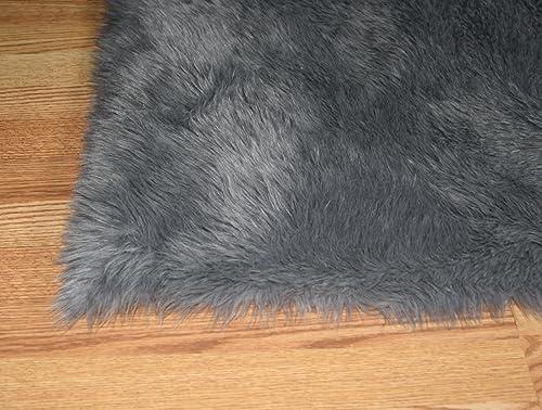 Flokati Faux Fur Rugs 5 X 8 Gray