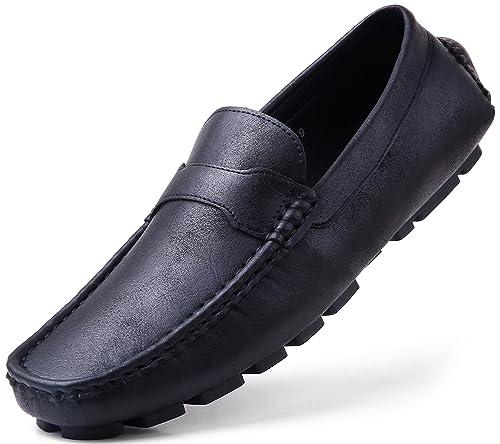 Amazon.com: Gallery Seven Zapatos de conducción para hombres ...