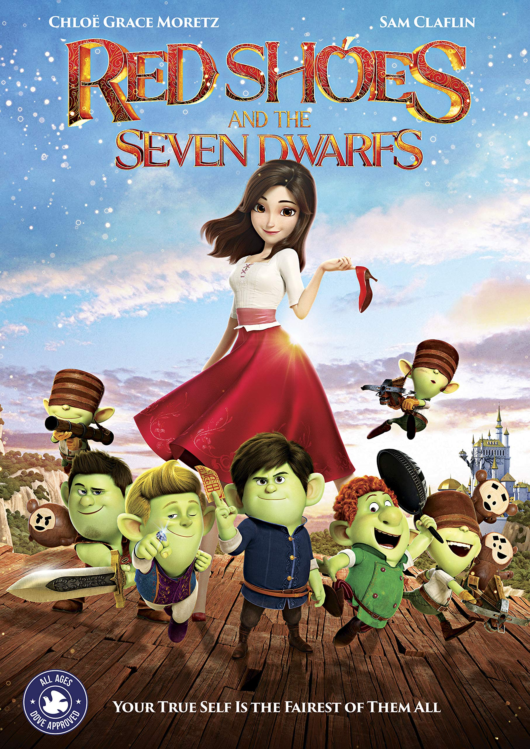 Book Cover: RED SHOES AND THE SEVEN DWARFS