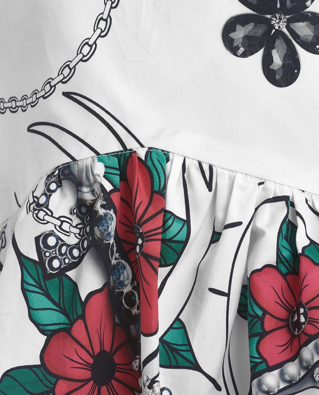 GULLIVER Bluse M/ädchen Kinder Blusen Top T-Shirt Weiss Loose Fit mit Blumen Lang 8-13 Jahre 134-164 cm