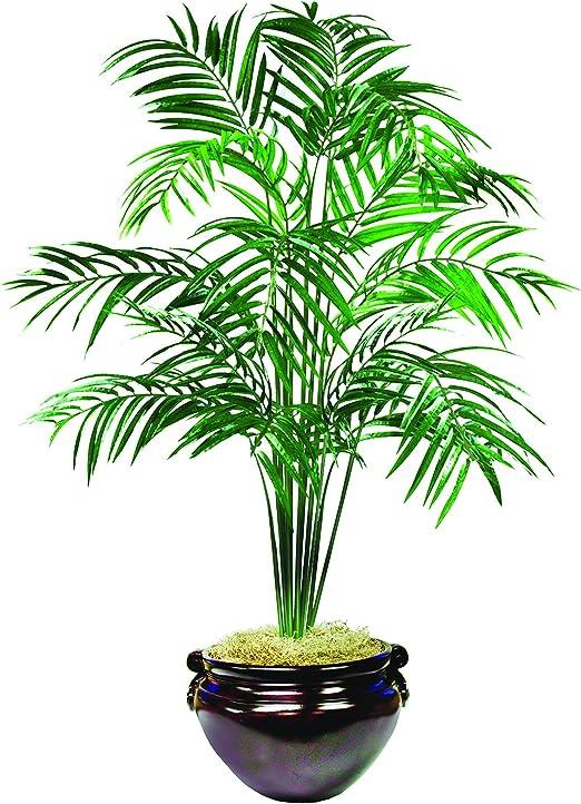 7/' ARECA PALM ARTIFICIAL SILK TREE PLANT IN BASKET BUSH PATIO BUSH HOME DECOR