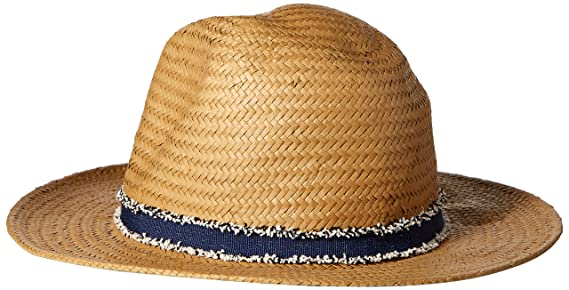 cfd3075b Vince Camuto Women's Frayed Panama Hat, Tan, One Size at Amazon Women's  Clothing store: