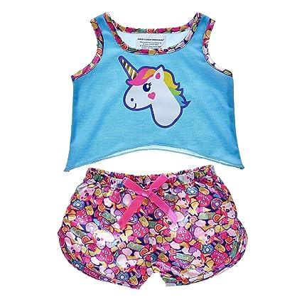 6bd800f8ec1 Amazon.com  Build A Bear Workshop Rainbow Unicorn Pajamas  Toys   Games