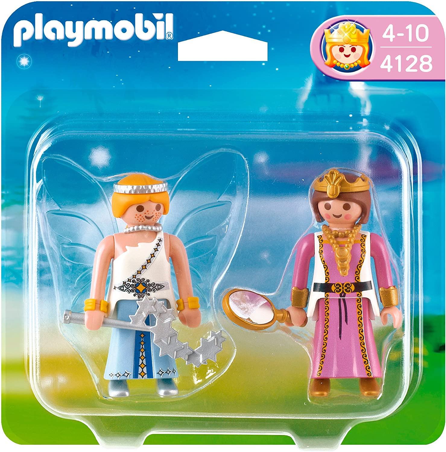 PLAYMOBIL - Pack de 2 Figuras Princesa y Hada (4128): Amazon.es ...