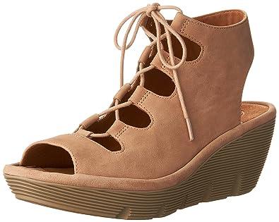 996ee308ce81 CLARKS Women s Clarene Grace Sand Nubuck Sandal