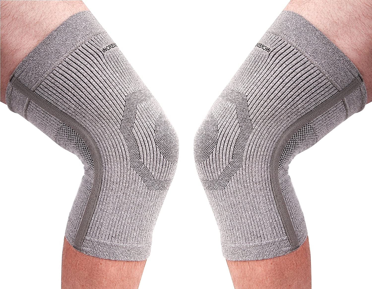 (PK of 2) Incrediwear Knee Sleeve - Radical Pain Relief for Aches & Injuries (L) 91zJKCVAT4L