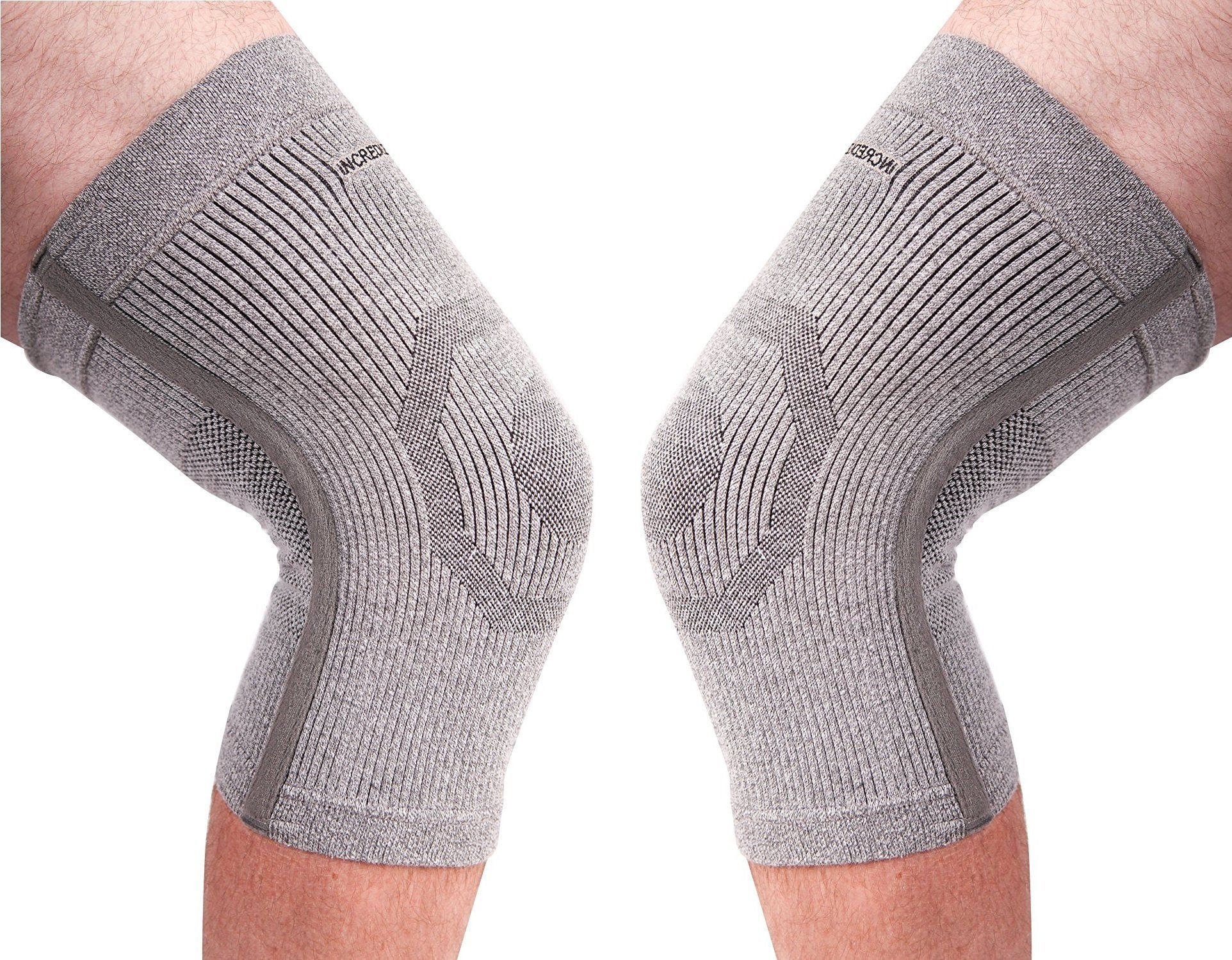 (PK of 2) Incrediwear Knee Sleeve - Radical Pain Relief for Aches & Injuries (XXL)