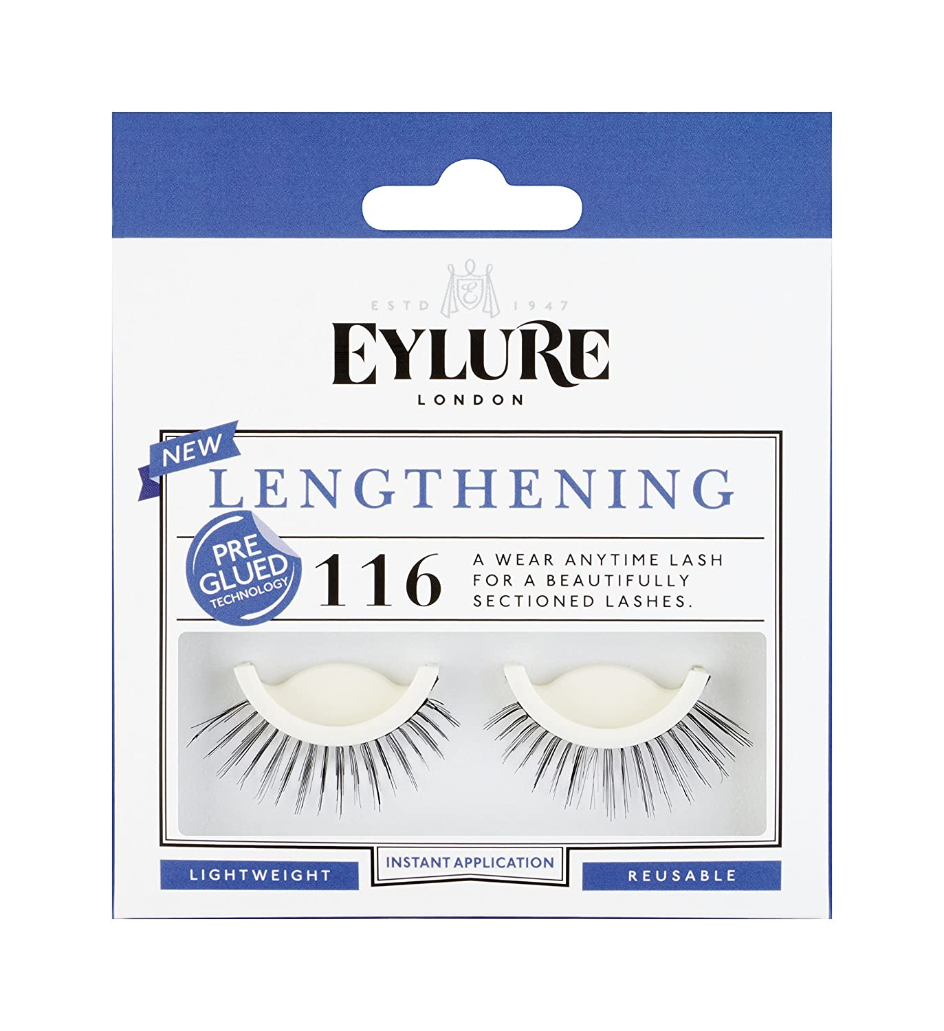 3344a31da70 Amazon.com : Eylure Pre-Glued Lashes, 116, 18.14 Gram : Fake Eyelashes And  Adhesives : Beauty
