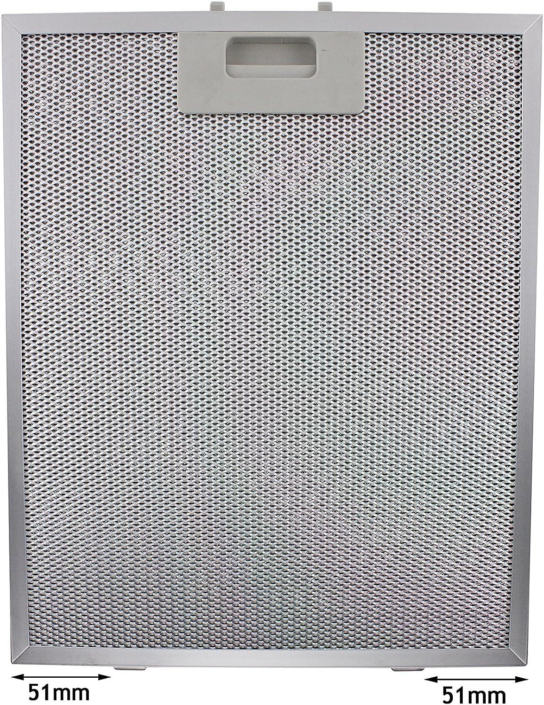 Spares2go Universal Campana Antigrasa Filtro (Plata, 320 x 260mm)