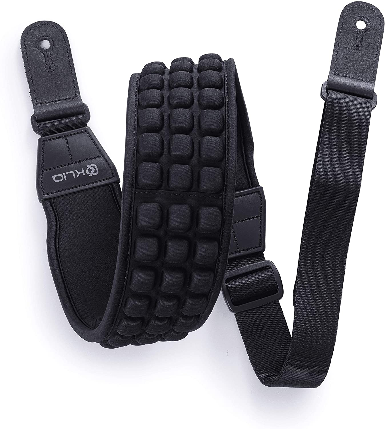 "KLIQ AirCell Guitar Strap for Bass & Electric Guitar with 3"" Wide Neoprene Pad and Adjustable Length from 46"" to 56"""