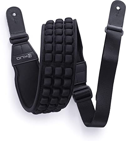 Brown KLIQ AirCell Guitar Strap for Bass /& Electric Guitar with 3 Wide Neoprene Pad and Adjustable Length from 46 to 56
