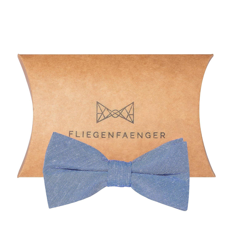 FLIEGENFAENGER® Herren Anzug Fliege [Hellblau] - vorgebunden und individuell verstellbare Schleife Accessoire für Männer inklusive Geschenkbox kombinierbar mit Einstecktuch
