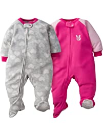 cfe33a8338 Gerber Baby Girls  2-Pack Blanket Sleeper