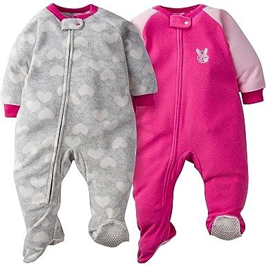 Amazon.com  Gerber Baby Girls  2-Pack Blanket Sleeper  Clothing 308eeae62