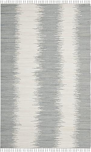Safavieh Montauk Collection MTK751K Handmade Flatweave Grey Cotton Area Rug 9 x 12