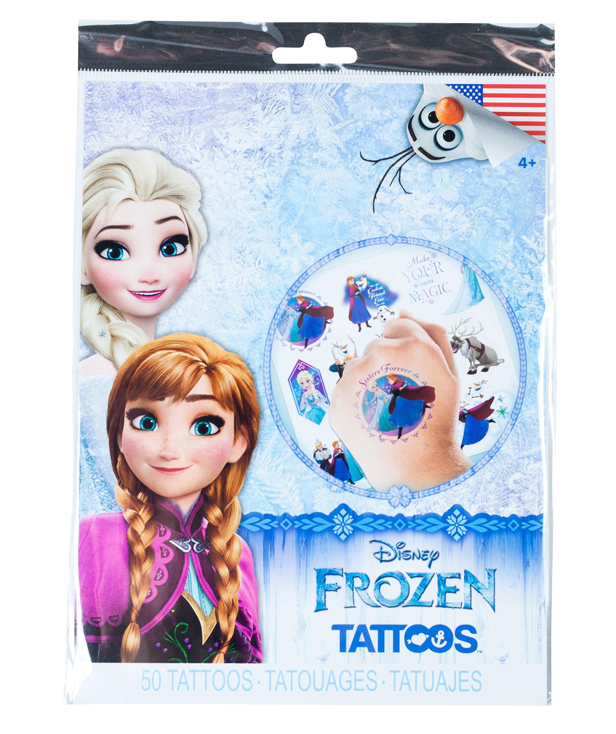 Savvi Disney Temporary Tattoos, Set of 50, Disney Frozen