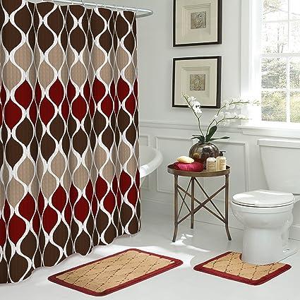 Bath Fusion Clarisse 15 Piece Bathroom Shower Set Espresso