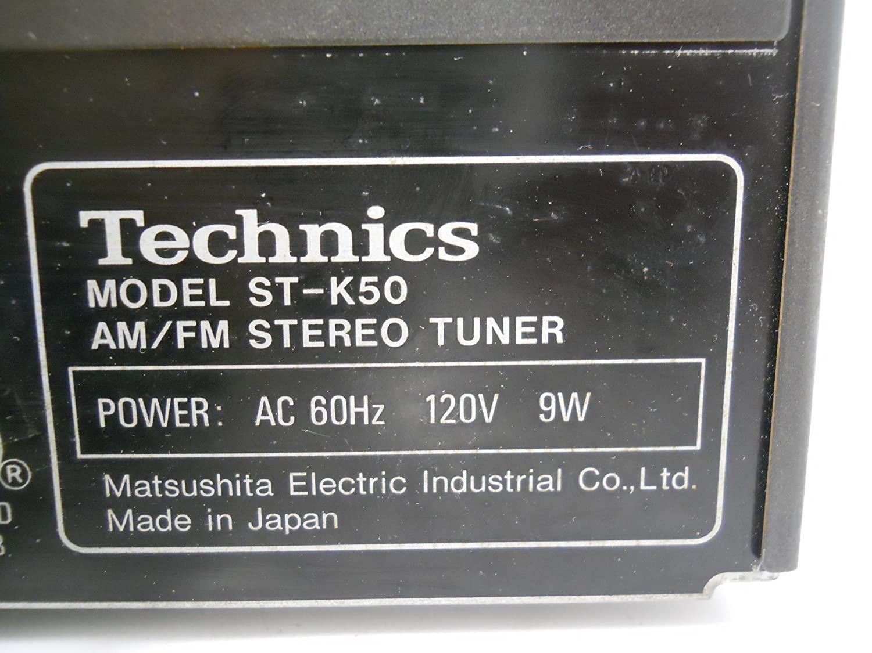 Technics Quartz Synthesizer Am Fm Stereo Tuner St K50 Home Wiring Diagram Audio Theater