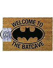 OOTB Alfombra para Puerta de Entrada, Batman-Welcome to The Batcave, Vinilo, Marrón, 40 x 60 cm