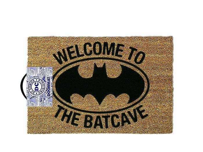 1art1 Batman Door Mat Floor Mat - Welcome to The Batcave (24 x 16 inches)