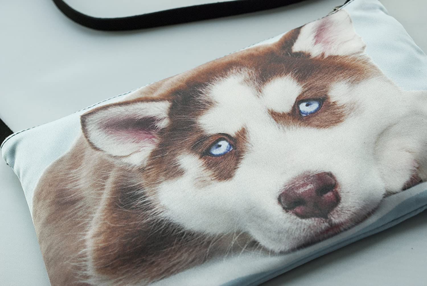 Husky dog purse, cross body bag, phone bag, shoulder bag, hipster