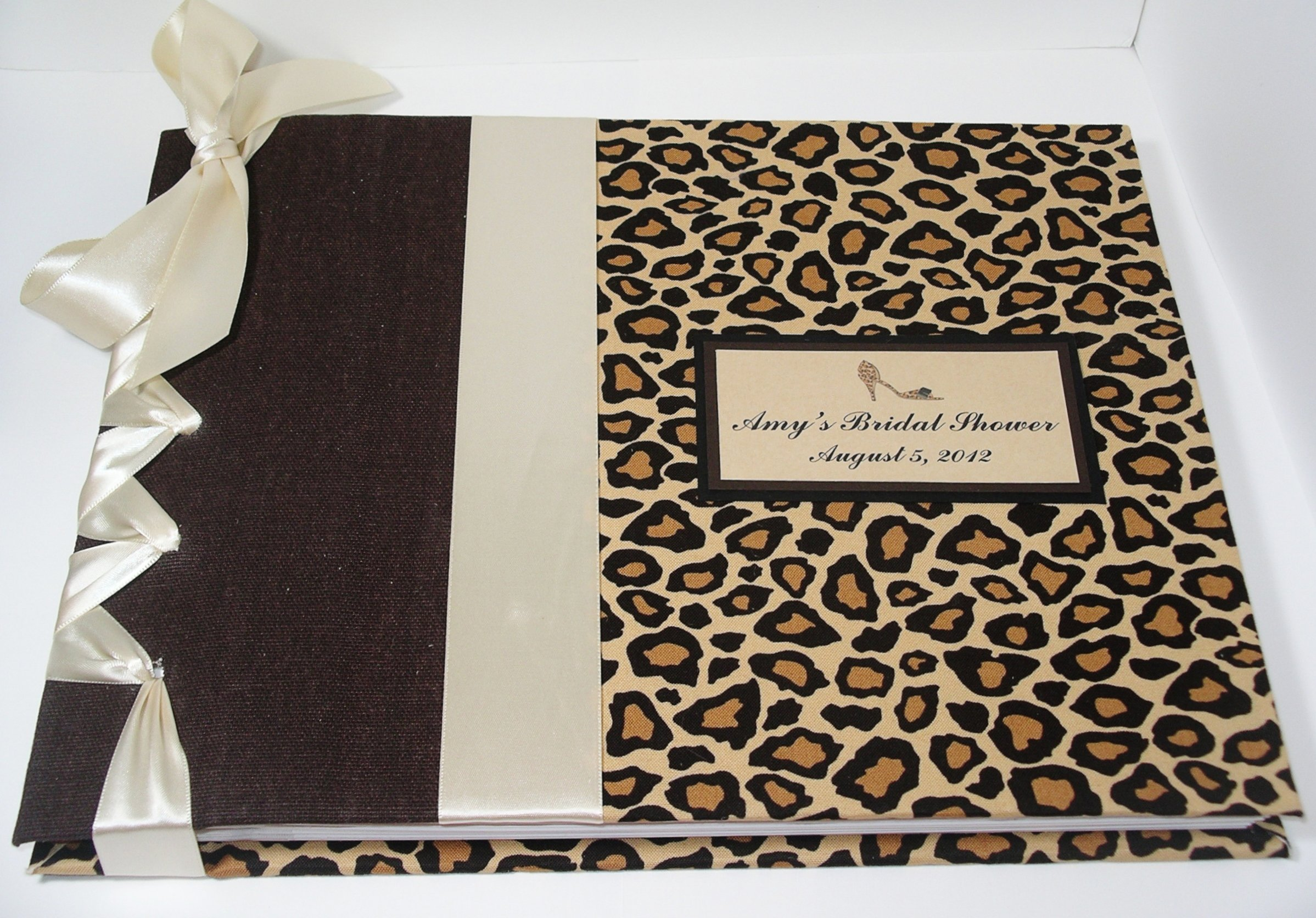 Bridal Shower Guest Book - Cheetah Guestbook - Leopard Guest Book - Animal Print Guest Book