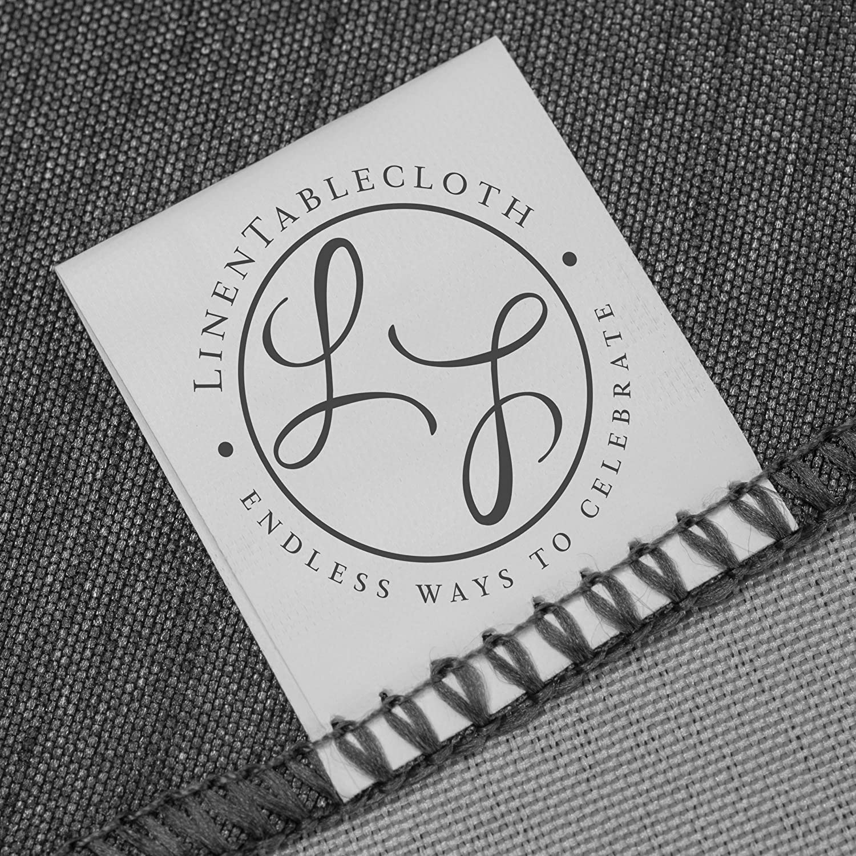 LinenTablecloth 60 x 102-Inch Rectangular Tablecloth Green /& White Checker