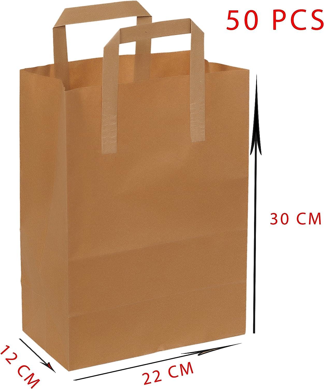 2/X carta diy Sack paperbag rettangolare in carta Kraft marrone bianco senza