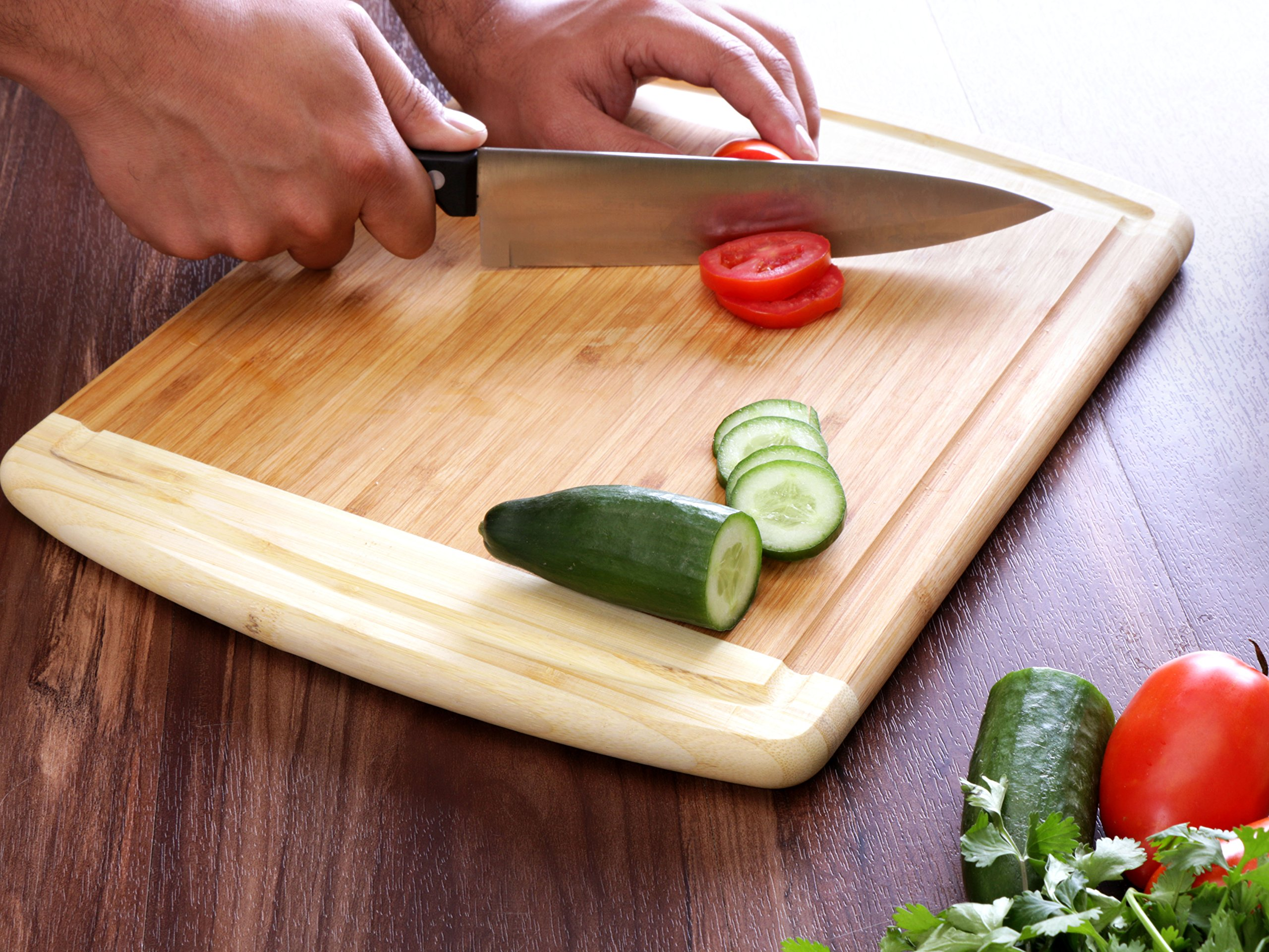 Utopia Kitchen Bamboo Cutting Board Large Bamboo Cutting Board for Chicken, Meat, and Vegetables by Utopia Kitchen (Image #6)