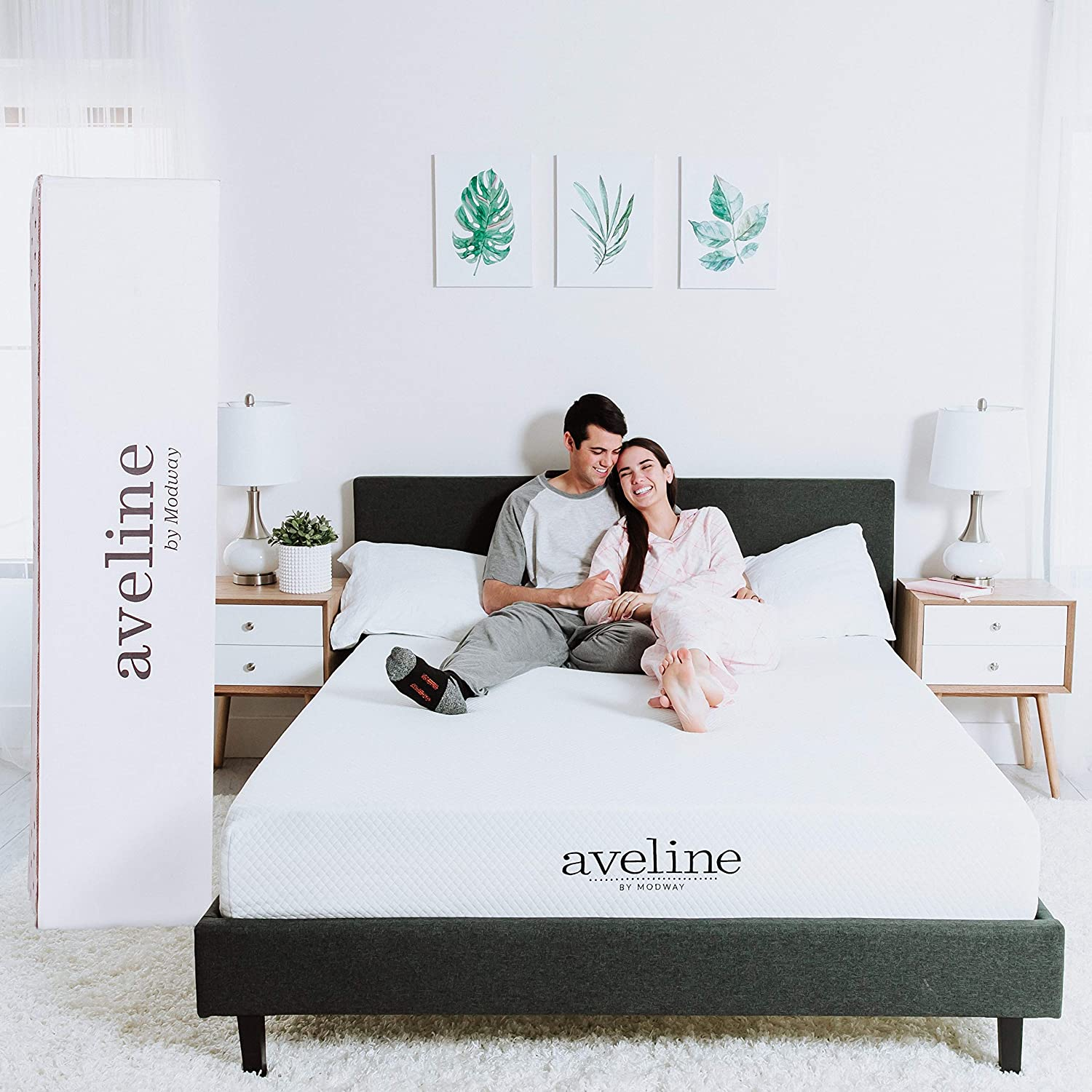 "Modway Aveline 8"" Gel Infused Memory Foam Queen Mattress With CertiPUR-US Certified Foam - 10-Year Warranty - Available In Multiple Sizes"
