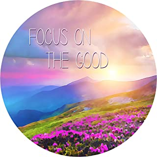 """product image for Next Innovations Motivational Wall Art Focus On The Good 16"""" Round"""