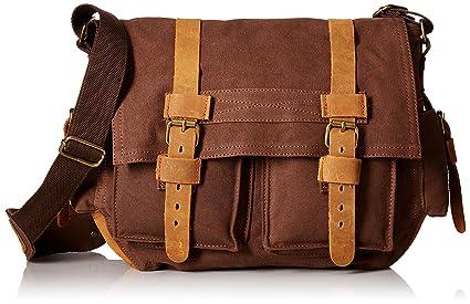 ebbe75060da9 MONA Presents and 100% Thick Canvas Retro Vintage One Shoulder Sling Bag  Messenger Bag Travel