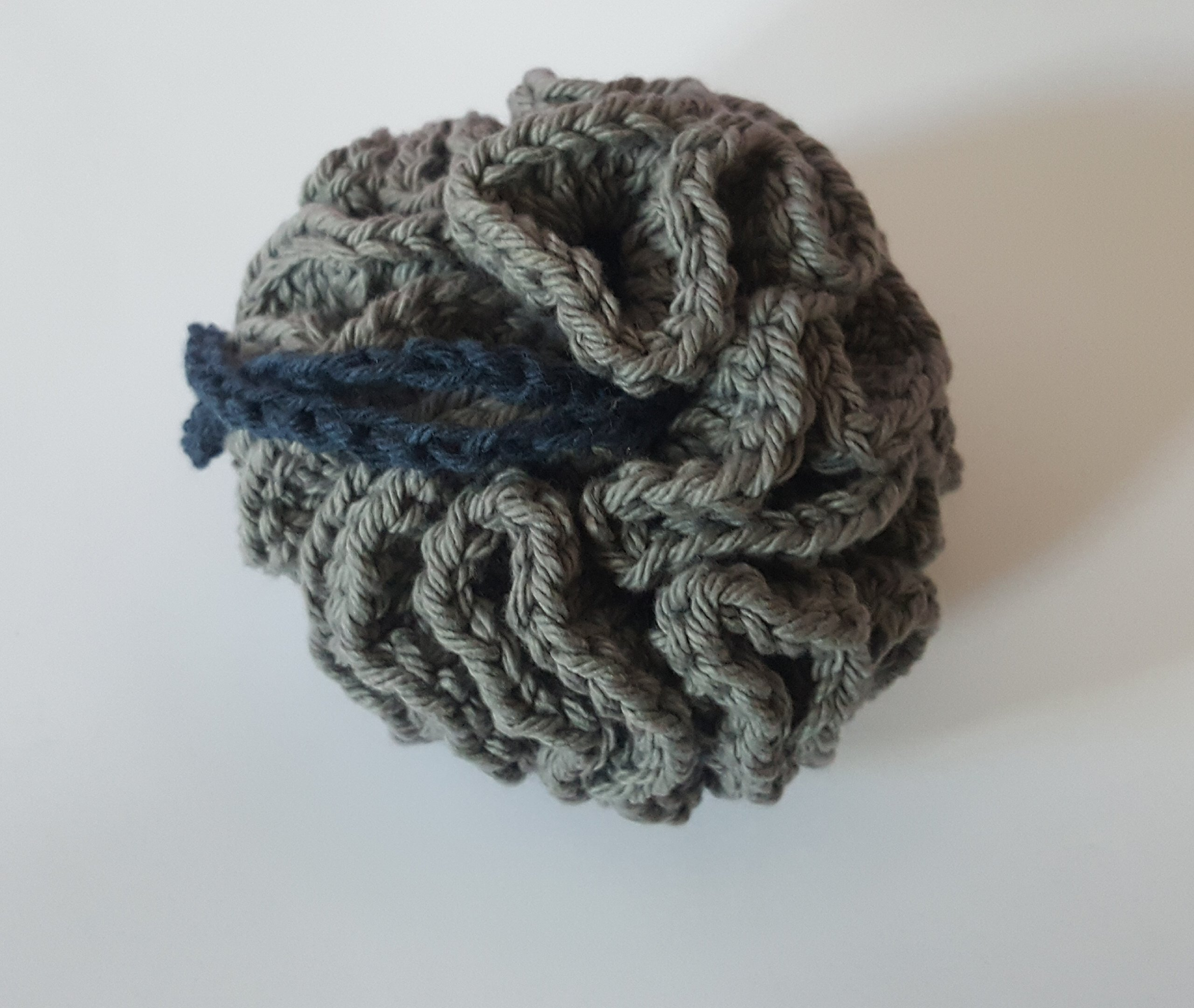 NY Yankee Inspired Bath Pouf by The Purl & Garter