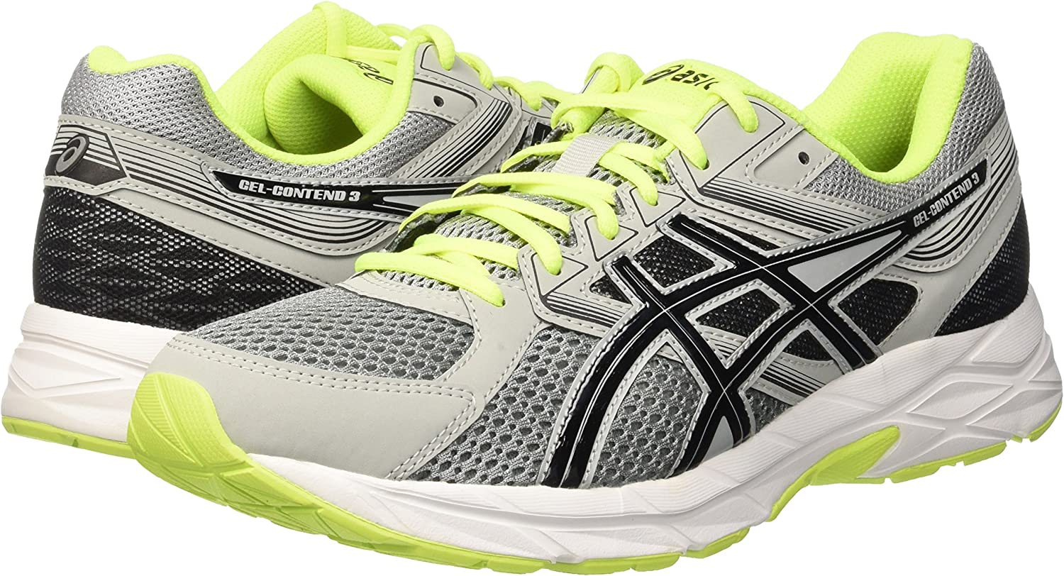 Asics Gel-Contend 3, Zapatillas de Entrenamiento para Hombre, Multicolor (Midgrey/Black/Safety Yellow), 44 EU: Amazon.es: Zapatos y complementos