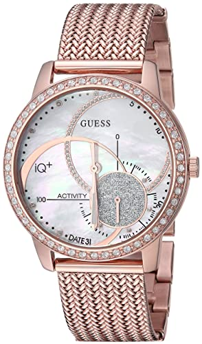 Amazon.com: GUESS Womens Stainless Steel Connect Fitness ...