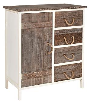 ts-ideen Cómoda estantería de madera bicolor estilo de la ...