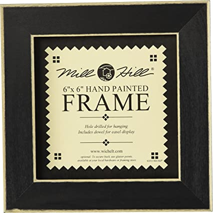 Amazon.com: Mill Hill Wooden Frame, 6 by 6-Inch, Matte Black: Single ...