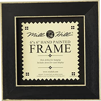 mill hill wooden frame 6 by 6 inch matte black